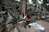 Painting at Ta Prohm