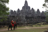 Elephant ride around Bayon, Central Angkor Thom