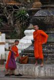 Monks at Wat Xieng Thong
