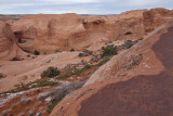 The end of the trail to Delicate Arch