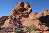 Steps to Atlatl Rock