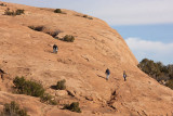 On the way to Delicate Arch