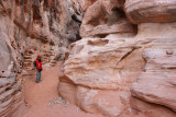 White Domes Trail, the entrance of the narrow canyon