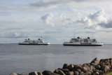 The ferry traveling between Danmark and Sweden 往來丹麥及瑞典的渡輪