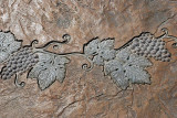 THIS RELIEF ON THE WALKWAY HINTS OF THE FORMER CHRISTIAN BROTHERS WINERY