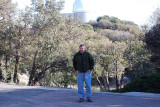 DON IN THE PARKING LOT WITH THE DOME OF THE 2.1 METER TELESCOPE IN THE BACKGROUND