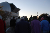 THIS WAS OUR GROUP READY TO WATCH THE SUN GO DOWN UNDER THE SHADOW OF THE SARA TELESCOPE