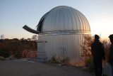 THE SARA TELESCOPE WITH ITS DOME DOOR DOWN, COOLED AND WAITING FOR OUR VISIT