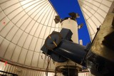THIS PICTURE WAS TAKEN FROM JUST BELOW THE SARA TELESCOPE AS IT PEERED OUT THE SLIT IN THE DOME