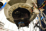 THIS IS THE WORKING END OF THE SARA TELESCOPE WITH ALL ITS SENSORS, CAMERAS AND COMPUTER CONTROLLERS