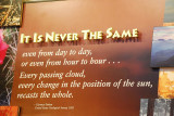 THESE WORDS ARE TESTIMONY TO THE EVER CHANGING APPEARANCE OF THE GRAND CANYON