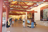 THE VISITOR'S CENTER AT THE GRAND CANYON NATIONAL PARK IS BRAND NEW AND MASSIVE IN SIZE