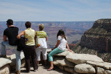 WE WERE FAR FROM ALONE ON THE RIM OF THE CANYON EVEN IN LATE APRIL AND THE FIRST WEEK OF MAY