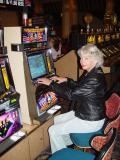 QUEEN OF THE SLOTS IN LEATHER
