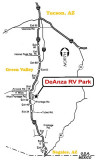 WE STAYED AT DEANZA RV PARK FOR THE MONTH OF JANUARY 08