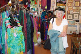 SARA LOVED TO SHOP THE MANY STORES OF TUBAC