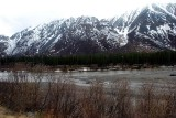 WE STARTED TO ENCOUNTER THE ALASKA COASTAL RANGE AS SOON AS WE GOT OUT OF ANCHORAGE