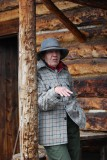 DENALI PARK HAS SEVERAL LIVING HISTORY SITES-THIS LADY REALLY PLAY HER ROLE WELL