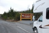 WE FINALLY APPROACHED THE ENTRANCE TO THE FAMOUS DENALI NATIONAL PARK OVER A HALF A MILLION VISITOR A YEAR AND WE WERE THERE