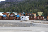 THIS IS THE TINY TOWN OF DENALI VILLAGE OUTSIDE THE PARK..