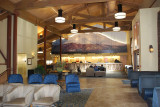 WE SAT IN THE LOBBY OF THIS ONE IN DENALI VILLAGE JUST TO ENJOY ALL THE SPACE THAT WAS LACKING IN OUR SUNSEEKER RV