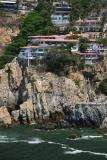 Location of Cliff Diver's show in Acapulco