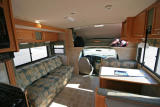 Living / Dining area in our RV (Slideout Extended)