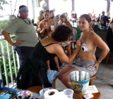 'Free' Body Painting at Dante's