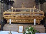 Coffin with the Bones of St. Pius in Kalocsa Cathedral