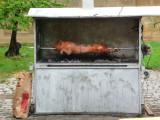 Pig Roast in Pecs, Hungary