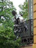 Statue of Franz Liszt on Balcony of Bishop's Palace in Pecs, Hungary