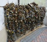 Love Padlocks in Pecs, Hungary