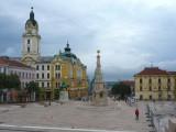 Szechenyi Square in Pecs, Hungary