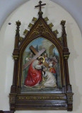 One of the Stations of the Cross in The Name of Mary Church in Novi Sad