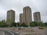 Stalinesque Buildings in Novi Sad, Serbia