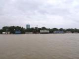 Floating Bars on West Bank of Danube in Belgrade, Serbia