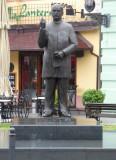 Statue on Pedestrian Street in Novi Sad, Serbia