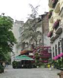 Flowers on Skadarlija Street in Belgrade
