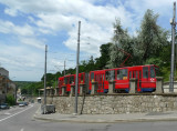 Belgrade Streetcar Coming Uphill