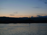 Watching Sunrise over Carpathian Mountains on Romanian Side of the Danube