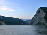 Danube Narrows at the Entry of the Iron Gates Section of the River