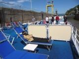 Susan Relaxing on the Sun Deck as Ship Drops 55 Feet