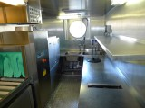 Dishwashing Area for Pots, Pans, Dishes, Silver, etc. for 140 Guests + Crew