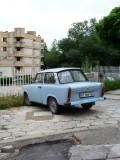 Trabant (East German Car) on the Street of Veliko Tarnovo