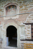Entrance into Eastern Orthodox The Nativity Church (dates to 1597) in Arbanassi