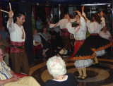 Bulgarian Folk Dancers Entertain on Board in Rousse, Bulgaria