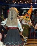 Traditional Bulgarian Folk Dancers Entertain Before Departing Rousse, Bulgaria