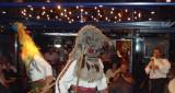 Bulgarian Folk Dancers in Traditional Masks