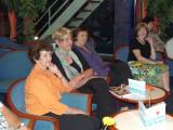 Heather, Barbara, Jo-Anne, & Susan Watching Bulgarian Folk Dancers
