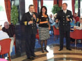 The Captain, Nancy, & Arnold with Farewell Toast